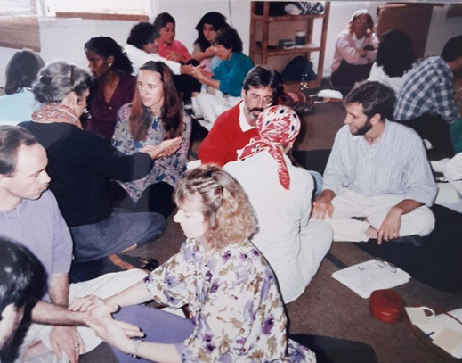 American practitioners and doctors taking practical training in pulse reading
